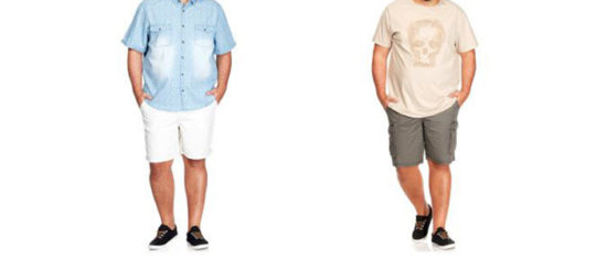 shorts grande taille